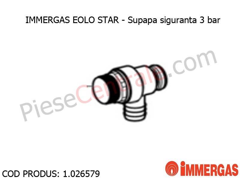 Poza Supapa siguranta 3 bar centrala termica Immergas Eolo Star