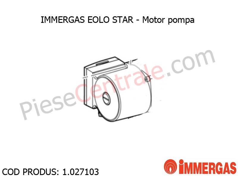 Poza Motor pompa centrala termica Immergas Eolo Star