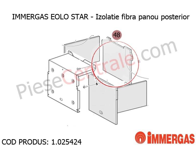 Poza Izolatie fibra panou posterior centrala termica Immergas Eolo Star