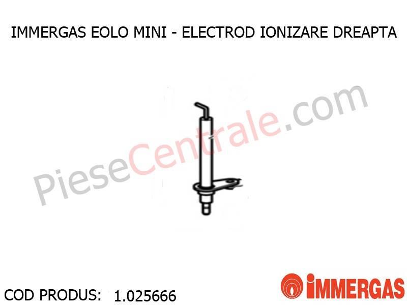 Poza Electrod ionzare dreapta centrala termica Immergas Eolo Mini