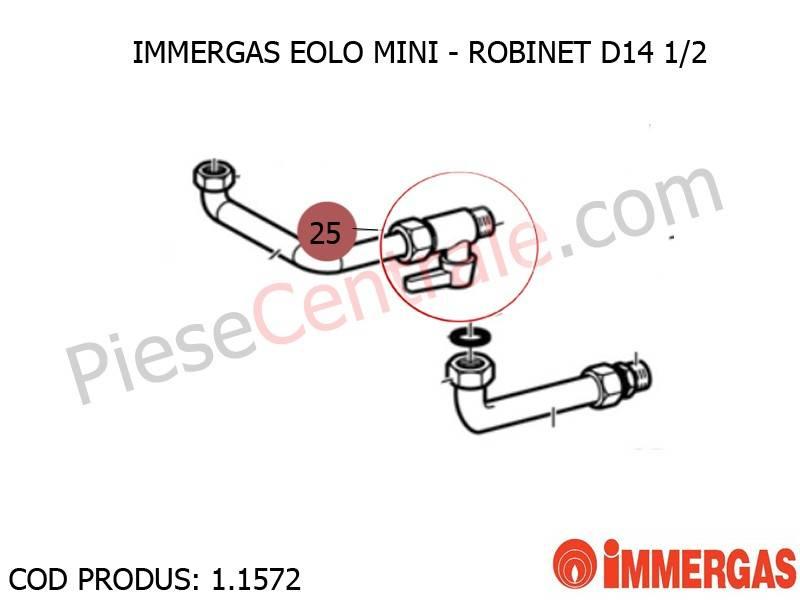 Poza Robinet D14-1/2 centrala termica Immergas Eolo Mini