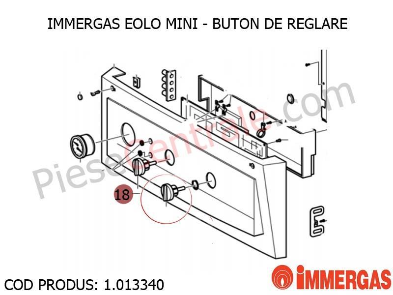 Poza Buton de reglare centrala termica Immergas Eolo Mini