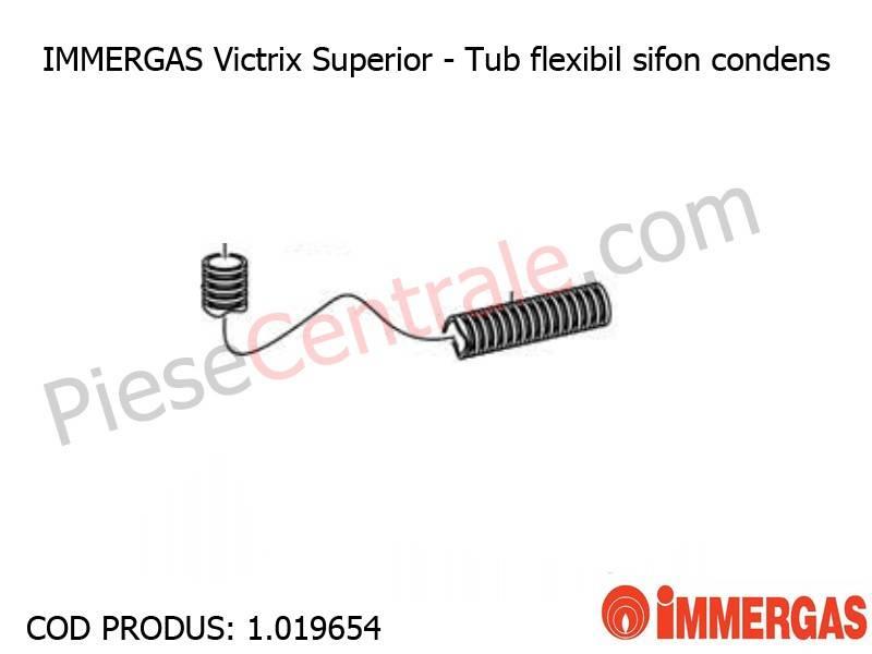 Poza Tub flexibil sifon condens centrala termica Immergas Victrix Superior