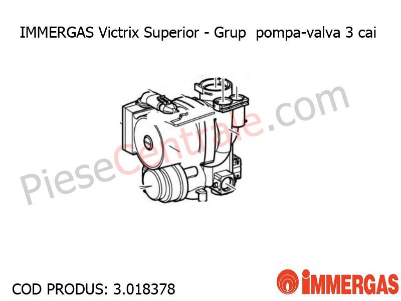 Poza Grup pompa-valva 3 cai centrala termica Immergas Victrix Superior