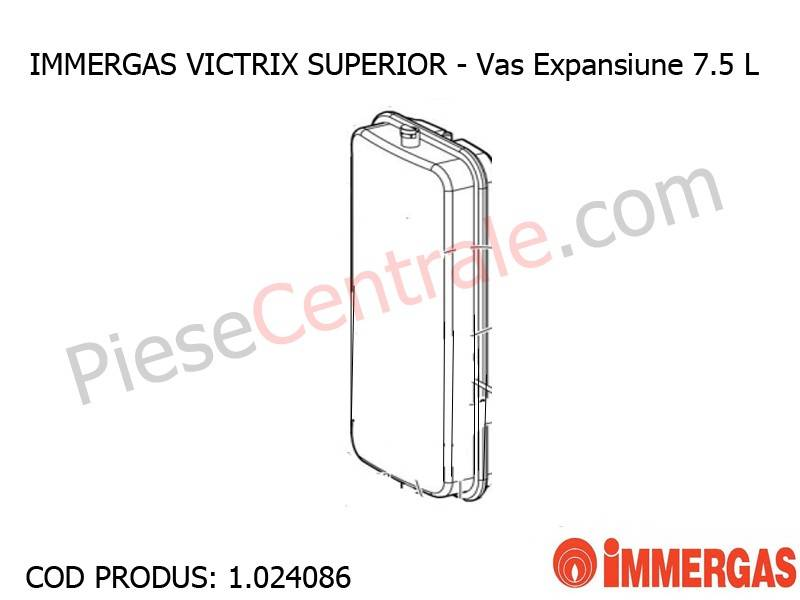 Poza Vas Expansiune 7.5 L centrala termica Immergas Victrix Superior
