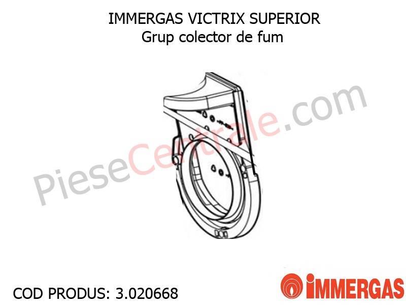 Poza Grup colector de fum centrala termica Immergas Victrix Superior