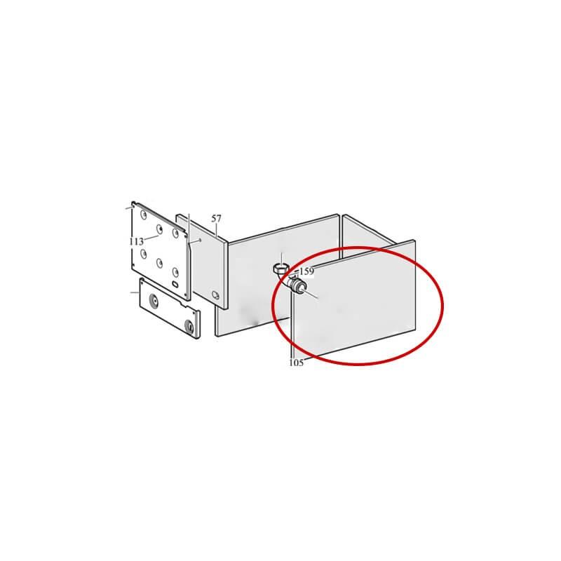 Poza Panou fibra izolatie dreapta centrala termica Immergas Zeus Superior 32 kw. Poza 8380