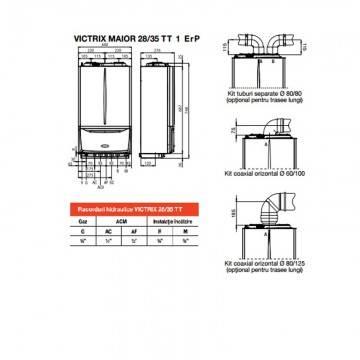 Poza Dimensiuni  centrala termica in condensare Immergas Victrix MAIOR 35 TT 1 Erp 35 kW