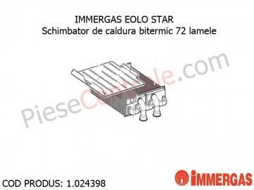 Poza Schimbator de caldura bitermic 72 lamele centrala termica Immergas Eolo Star