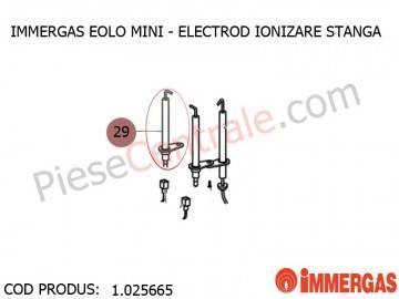 Poza Electrod ionzare stanga centrala termica Immergas Eolo Mini