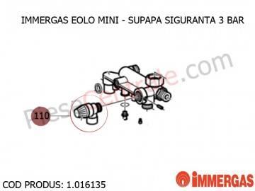 Poza Supapa siguranta 3 bar centrala termica Immergas Eolo Mini