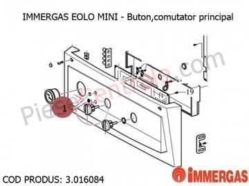 Poza Buton, comutator principal centrala termica Immergas Eolo Mini