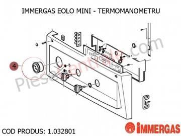 Poza Termomanometru centrala termica Immergas Eolo Mini