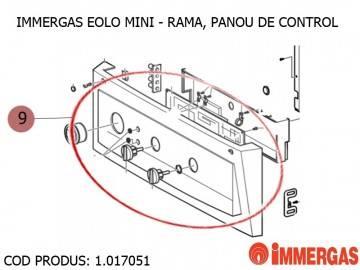 Poza Rama, panou de control centrala termica Immergas Eolo Mini