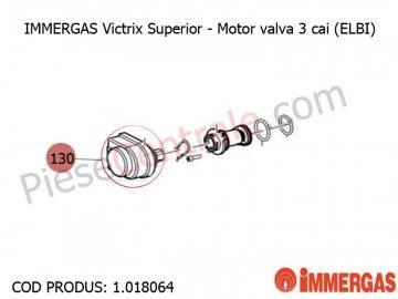 Poza Motor valva 3 cai (ELBI) centrala termica Immergas Victrix Superior